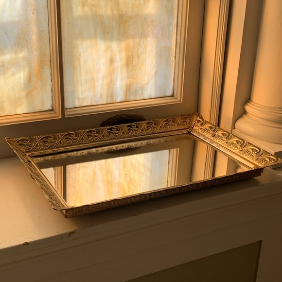 Art Deco hanging vanity tray